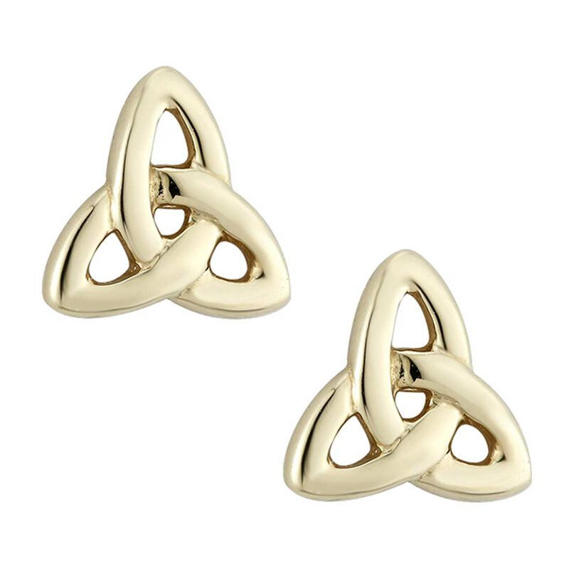 Trinity Knot Stud Earrings  Gold Plated