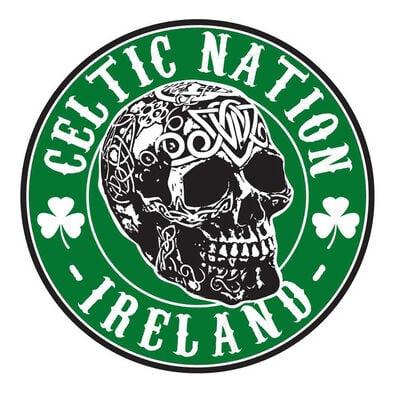Celtic Nation Ireland Skull sticker