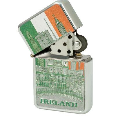 Ireland Montage Tri Colour Foil Style Windproof Lighter
