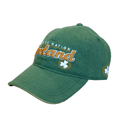 Celtic Nation Baseball Cap with Ireland Lettering  Green Colour