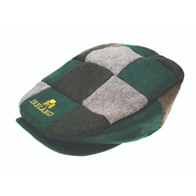 Man Of Aran Patch Design Cap With Embroidered Gold Shamrock