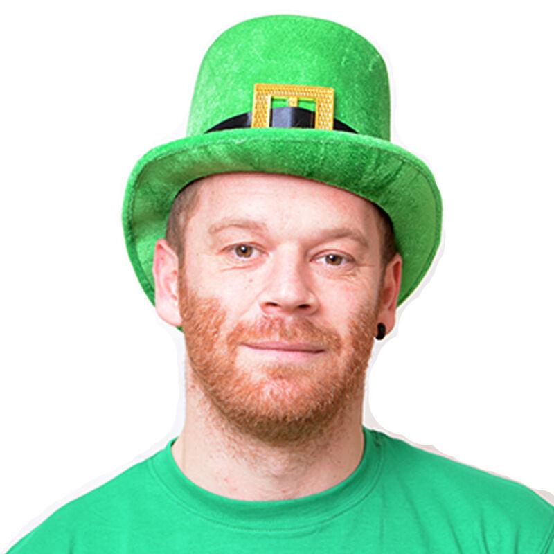 Velour Tall Green Leprechaun Designed Bowler Hat  Onesize Fits Most Hat Sizes
