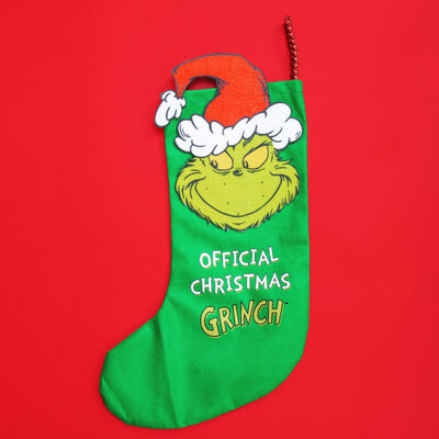 Official Christmas Grinch Green Stocking
