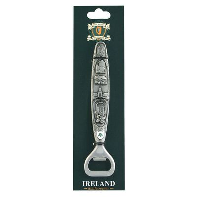 Irish Heritage Collage Design Ireland Bottle Opener With Landmarks