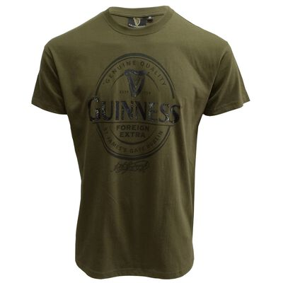 Guinness T-Shirt With Foreign Extra Label In Silver  Khaki Colour