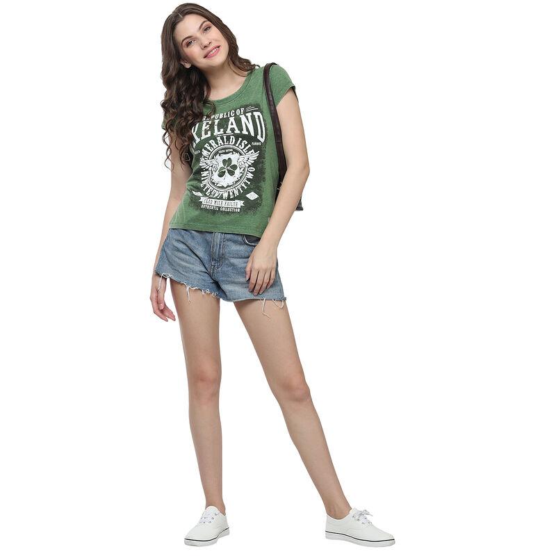 Green Republic Of Ireland Celtic Nations Established Nineteen Twenty Two Ladies T-Shirt