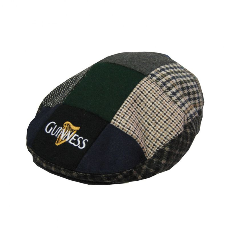 Guinness Patch Tweed Flat Cap
