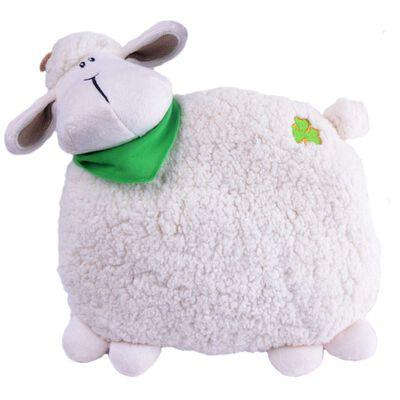 Daisy The Irish Sheep-Kissen  26 cm hoch und in Crème und Weiß
