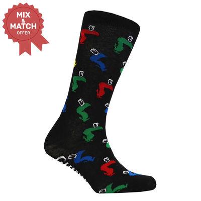 Black Guinness Socks With Coloured Toucan Design