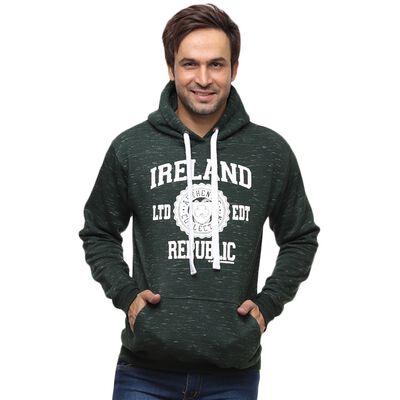"""Waldgrüner Kapuzenpullover mit weißem Aufdruck """"  Ireland Republic"""""""