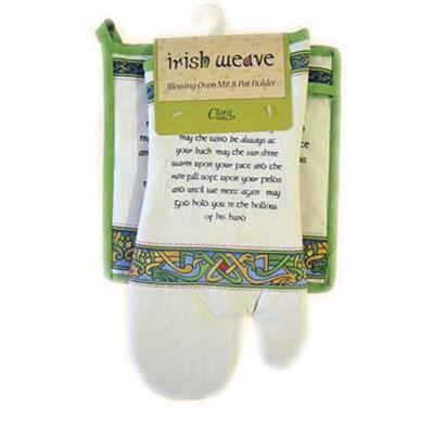 Irish Weave Backofenhandschuh und Topflappen