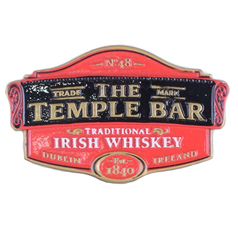 Resin Magnet Of The Temple Bar Traditional Irish Whiskey Logo