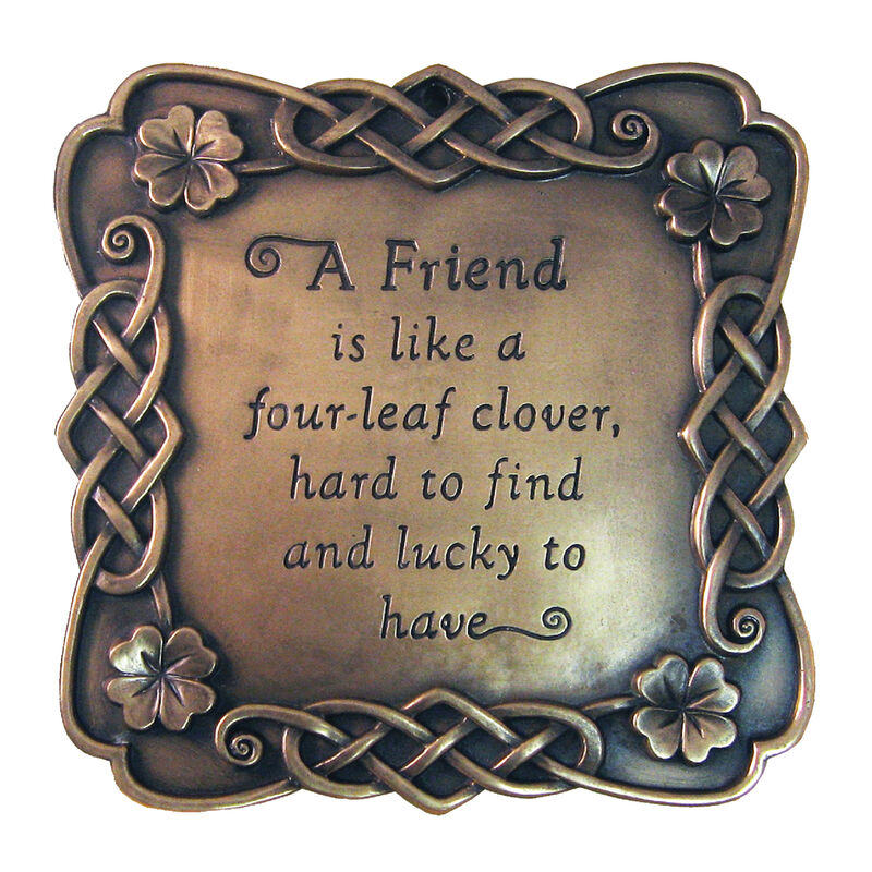 Bronze Plated Wall Plaque With A Friend Saying Design 15cm X 15cm