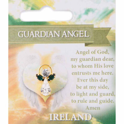 Guardian Angel Pin With Guardian Angel Blessing