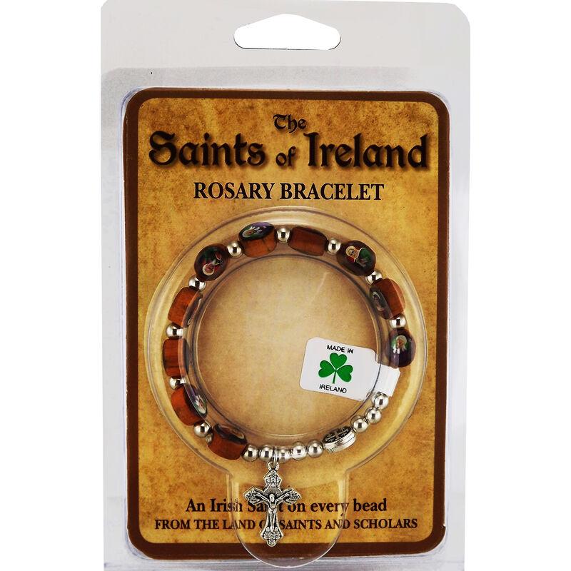 The Saints Of Ireland Designed Wooden Rosary Bracelet
