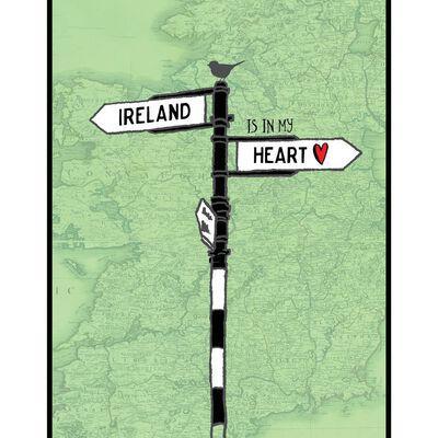Ireland Is In My Heart – Hard Paper Irish Design Print With Cardboard Insert