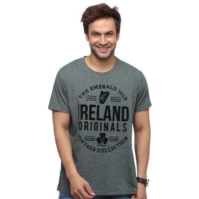 Ireland Originals Emerald Isle-T-Shirt mit grünem Garn-Design