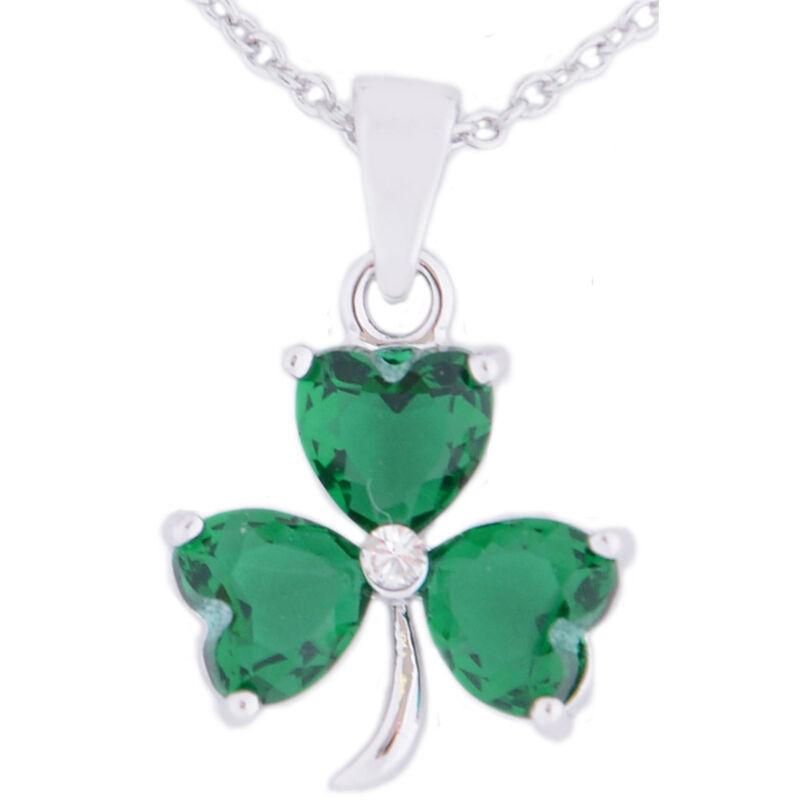 Irish Designed Croi Shamrock Necklace With Swarovski Crystal Stones