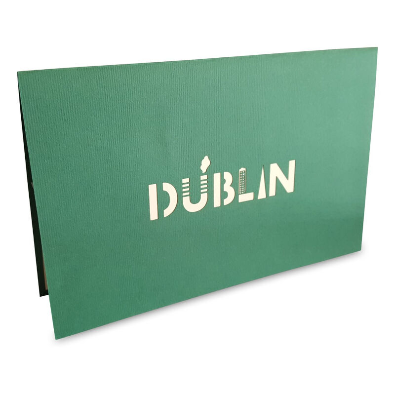 Pop-Up Card with Dublin City Skyline and Landmarks Design