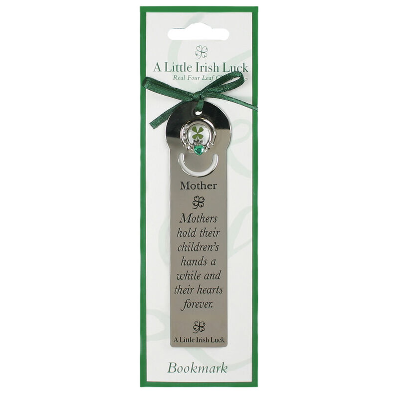 Four Leaf Clover Bookmark With Mother Saying