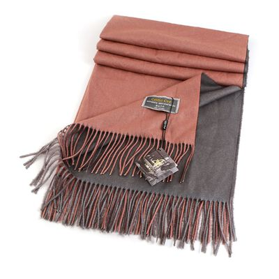 Celtic Ore Authentic Irish Two-Sided Scarf  Brown/Cream Colour