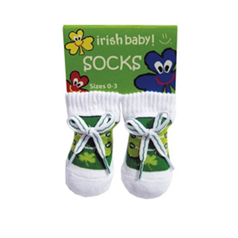 Newborn Bootie Socks With Laces  Green Colour