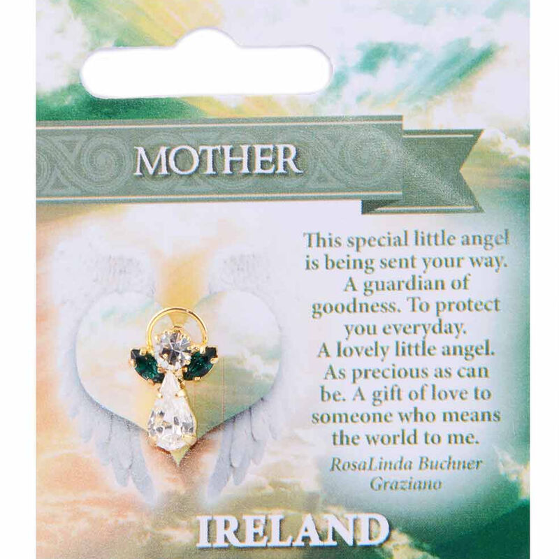 Guardian Angel Pin With Mother Blessing