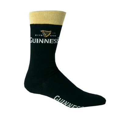 Black And Beige Luxury Daywear Guinness Socks