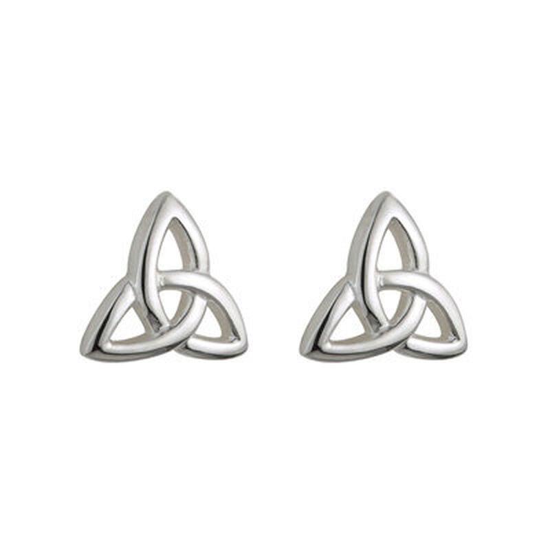 Hallmarked Sterling Silver Kid's Trinity Knot Earrings