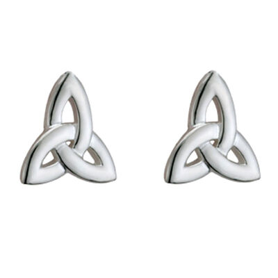 Hallmarked Sterling Silver Trinity Knot Earrings