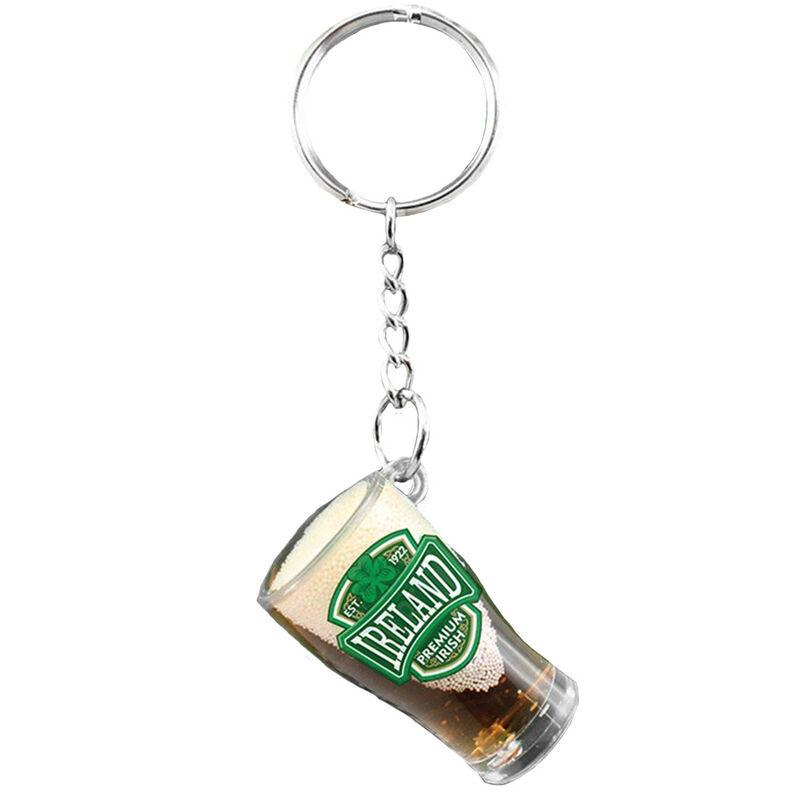 Pvc Pint Glass Keychain With Ireland Varsity Crest