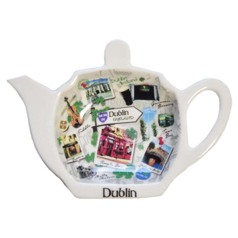 Destination Dublin Tea Bag Holder Showing Famous Images Of Dublin