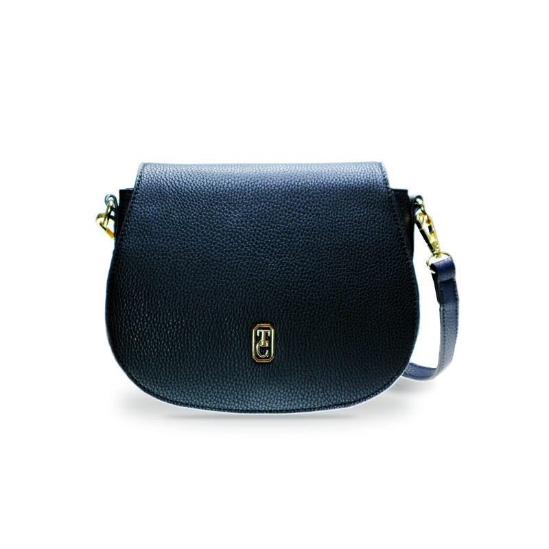 Tipperary Crystal Kensington Saddle Bag, Black Colour