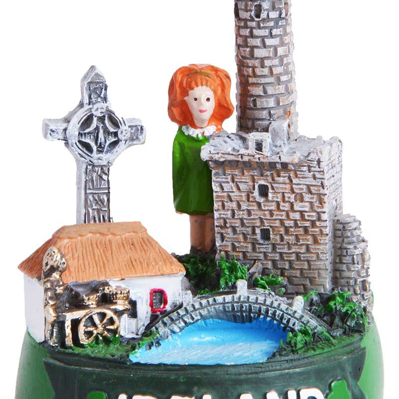 Ireland Designed 5.5Cm Ornament With Famous Icons and Landmarks