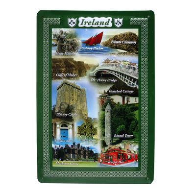 Irland Collage Blechschild (20 x 30 cm)