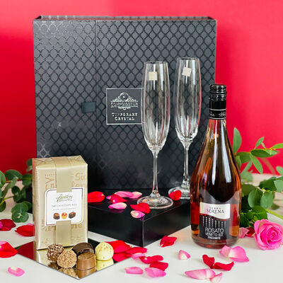 Terra Serena Rose Prosecco And Tipperary Crystal Glass Set (Ireland Only)