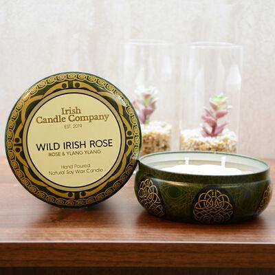 Irish Candle Company Large Wild Irish Rose Natural Soy Wax Candle
