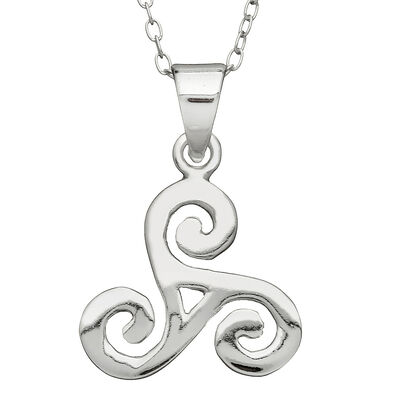 Hallmarked Sterling Silver Large Spiral Pendant