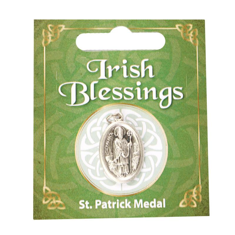 Saint Patrick Oxidised Medal On Card