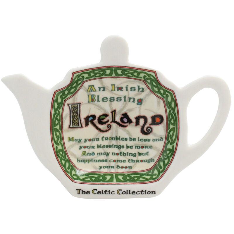 Celtic Collection Teebeutelhalter aus Keramik mit irischem Segensspruch