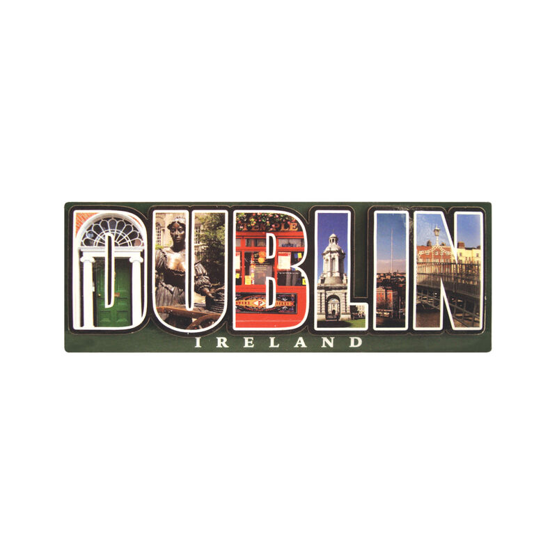 3D Dublin Photographic Wooden Design Magnet