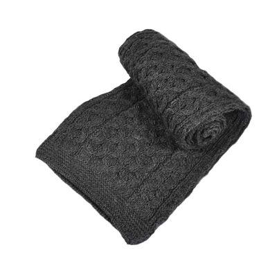 Merino Wool Scarf  Charcoal