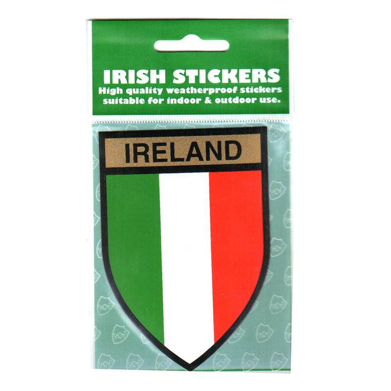 Ireland Flag Shield Sticker