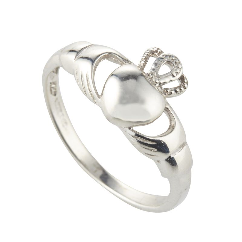 Hallmarked Sterling Silver Claddagh Ring  Presented In A Box