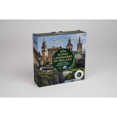 Iconic Landmarks of Ireland 1,000-Piece Jigsaw Puzzle With Poster
