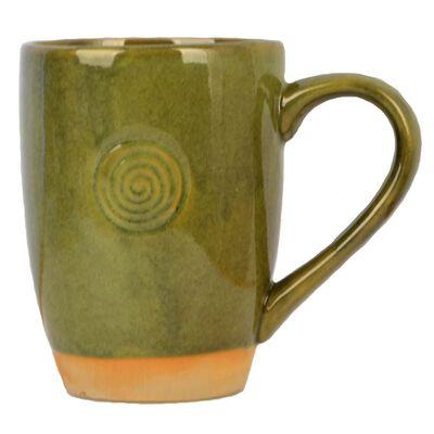 Green Watervale Celtic Heritage 13Oz Pottery Mug  Design In Ireland