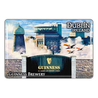 Guinness Epoxy Magnet Montage Of Storehouse  Flying Toucans And St. James's Gate