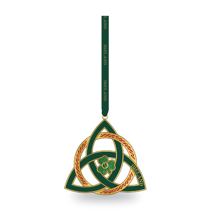 Metal Hanging Decoration with Trinity Knot and Shamrock Design