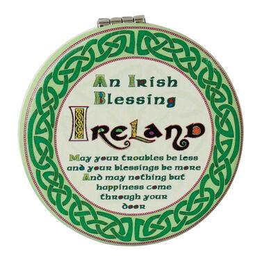 Celtic Collection Taschenspiegel mit keltischem Design und irischem Segensspruch