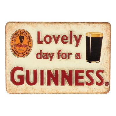 Guinness Official Merchandise 'Lovely Day For A Guinness' Resin Magnet